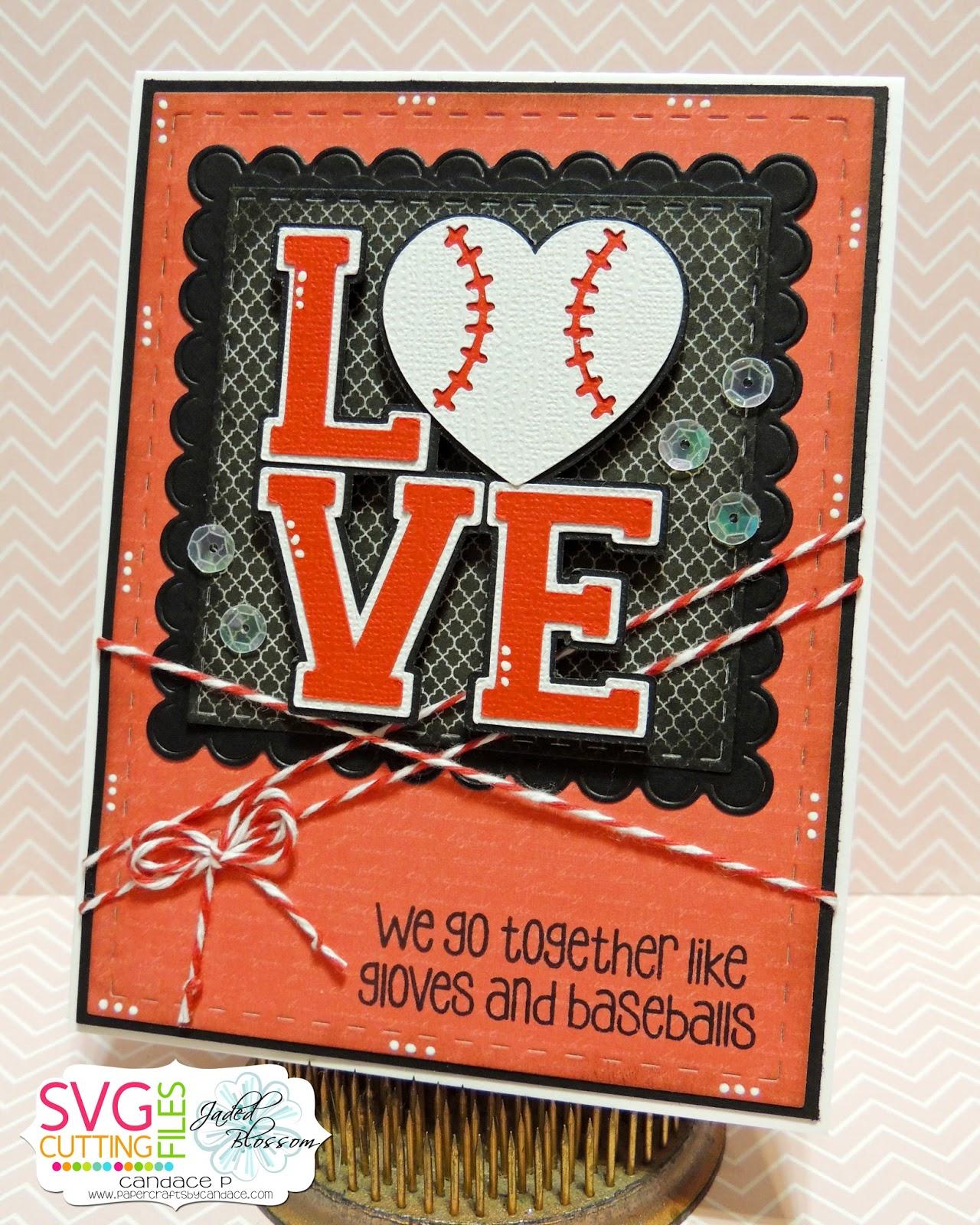 Download SVG Cutting Files: LOVE baseball