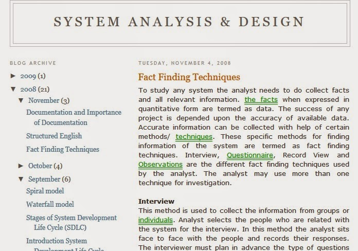 System Analysis Design Shared Info Of System Analysis Blog