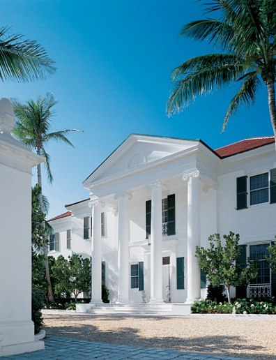 Neoclical Palm Beach Home Poised Along The Magnificent Curve Of Ocean Boulevard Provides An Elegant And Historic Glimpse Into Society