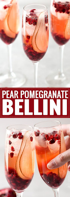 Pear Pomegranate Bellini