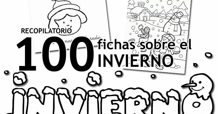 RECURSOS INFANTIL | 100 fichas sobre el invierno ~ La Eduteca