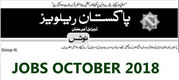 New JOBS in Pakistan Railway October 2018