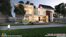 4 Bhk Modern Home 2900 Square Feet - Kerala Design