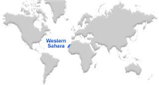 image: Western Sahara Map location