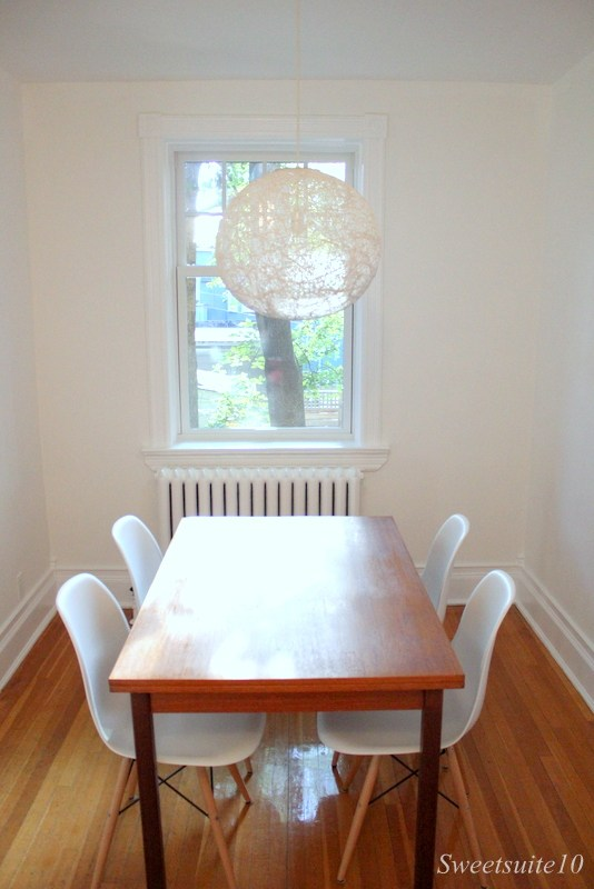 Newly repaired dining room