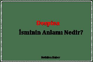 Despina İsminin Anlamı Nedir