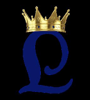 Alfabeto Azul con Corona Dorada.