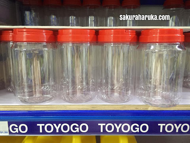 There Are Various Sizes Of Red Capped Plastic Jars Too That Many Like To  Use For Chinese New Year Goodies.