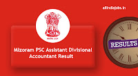 Mizoram PSC Assistant Divisional Accountant Result