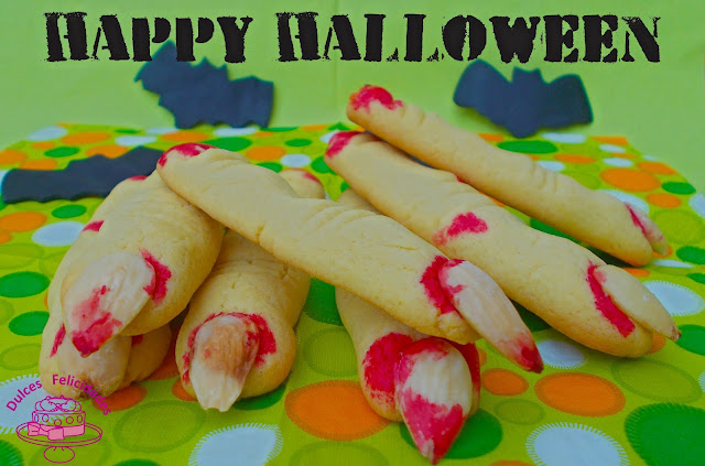 Galletas dedos sangrientos para Halloween