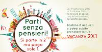 Logo Parti senza pensieri con premio sicuro sconto vacanza 2x1