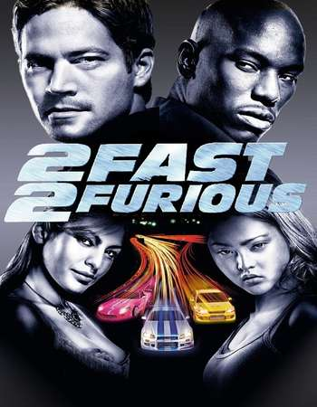 Poster Of 2 Fast 2 Furious 2003 Dual Audio 500MB BRRip 720p HEVC Free Download Watch Online downloadhub.net