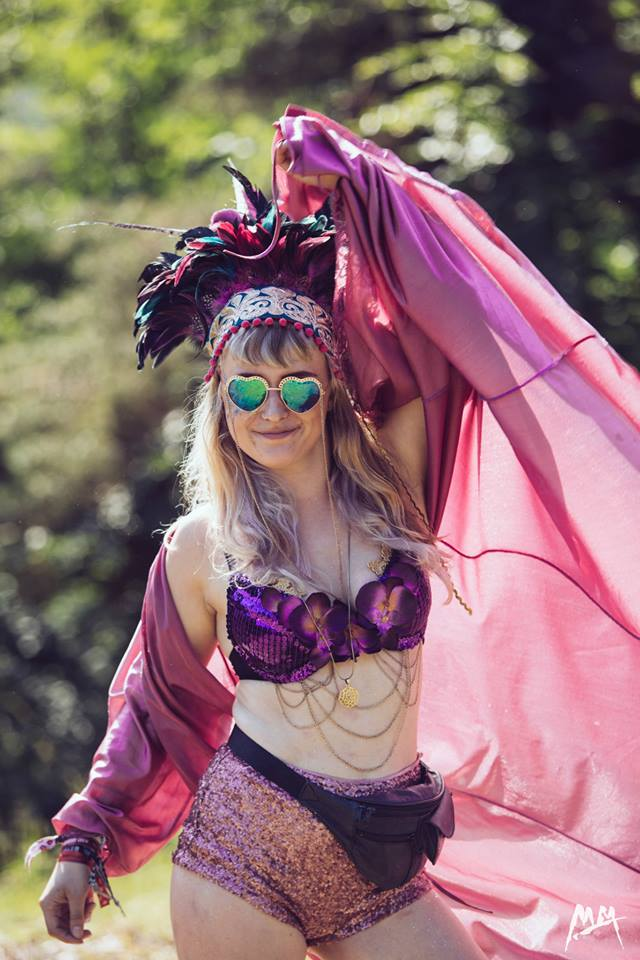 Treasure Tribe, Dulcie's Feathers, festival style, Meadows in the Mountains, festival, feather headdress