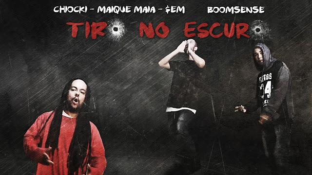 """Ouça """"Tiro no Escuro"""", o primeiro single de 2017 do projeto BoomSense (Chiocki, Maique Maia e o $em)"""