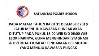Penutupan berlangsung mulai Sabtu 31 Desember pukul 06.00 sore hingga Minggu 1 Januari 2017, sosialisasi berlangsung di sejumlah lokasi sejak Kamis pagi