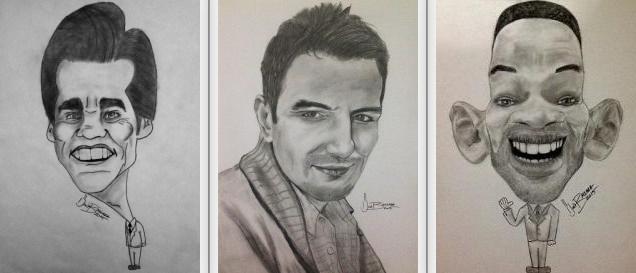 karakalem portre, karikatür,