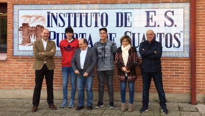 Los alumnos del IES Puerta de Cuartos Alejandro Sanguino Osa y César ...
