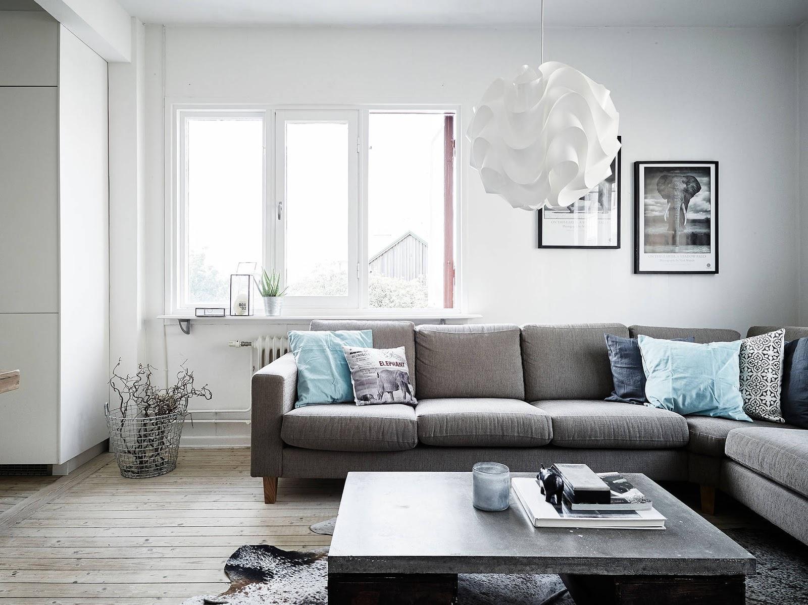 szara kanapa, szara rogówka, szara sofa IKEA