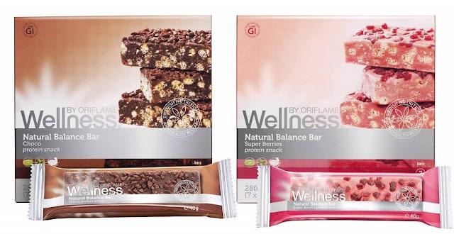 Wellness Natural Balance Bars 2 υπέροχες γεύσεις κομματάκια Σοκολάτας Super Berries-Ρόδι-Acai-Μύρτιλλα πακέτο των 7 τεμαχίων