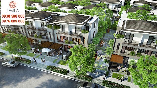 Phối cảnh nội khu dự án biệt thự Lavila Kiến Á.