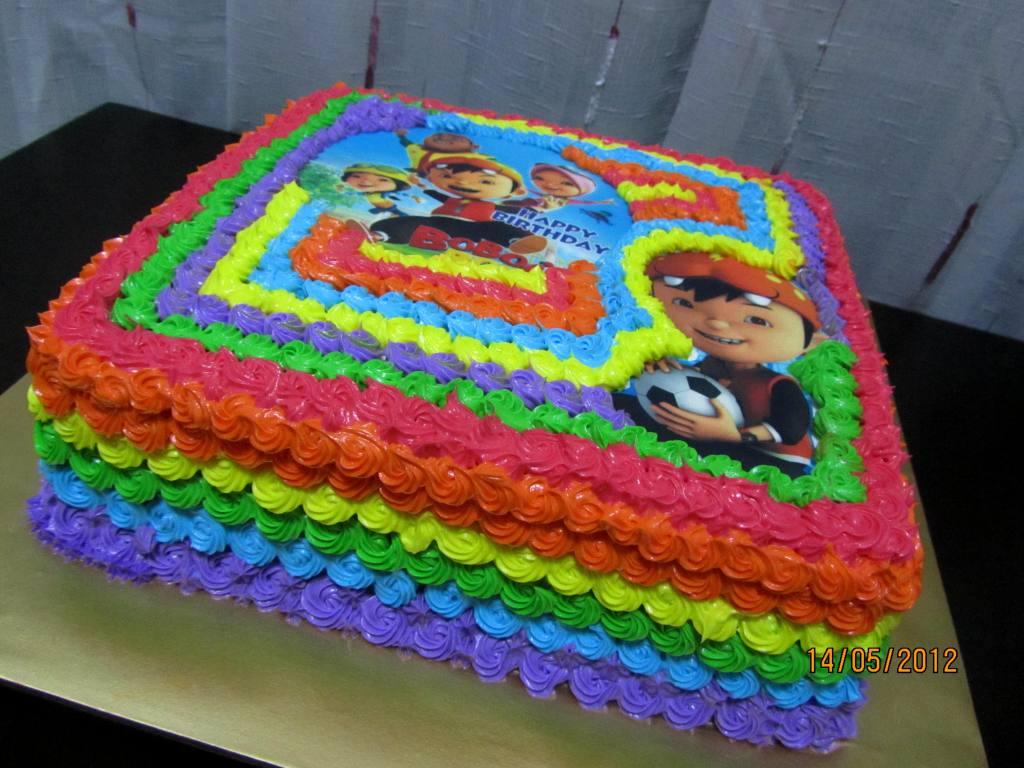 Rainbow Cake Tema Boboiboy