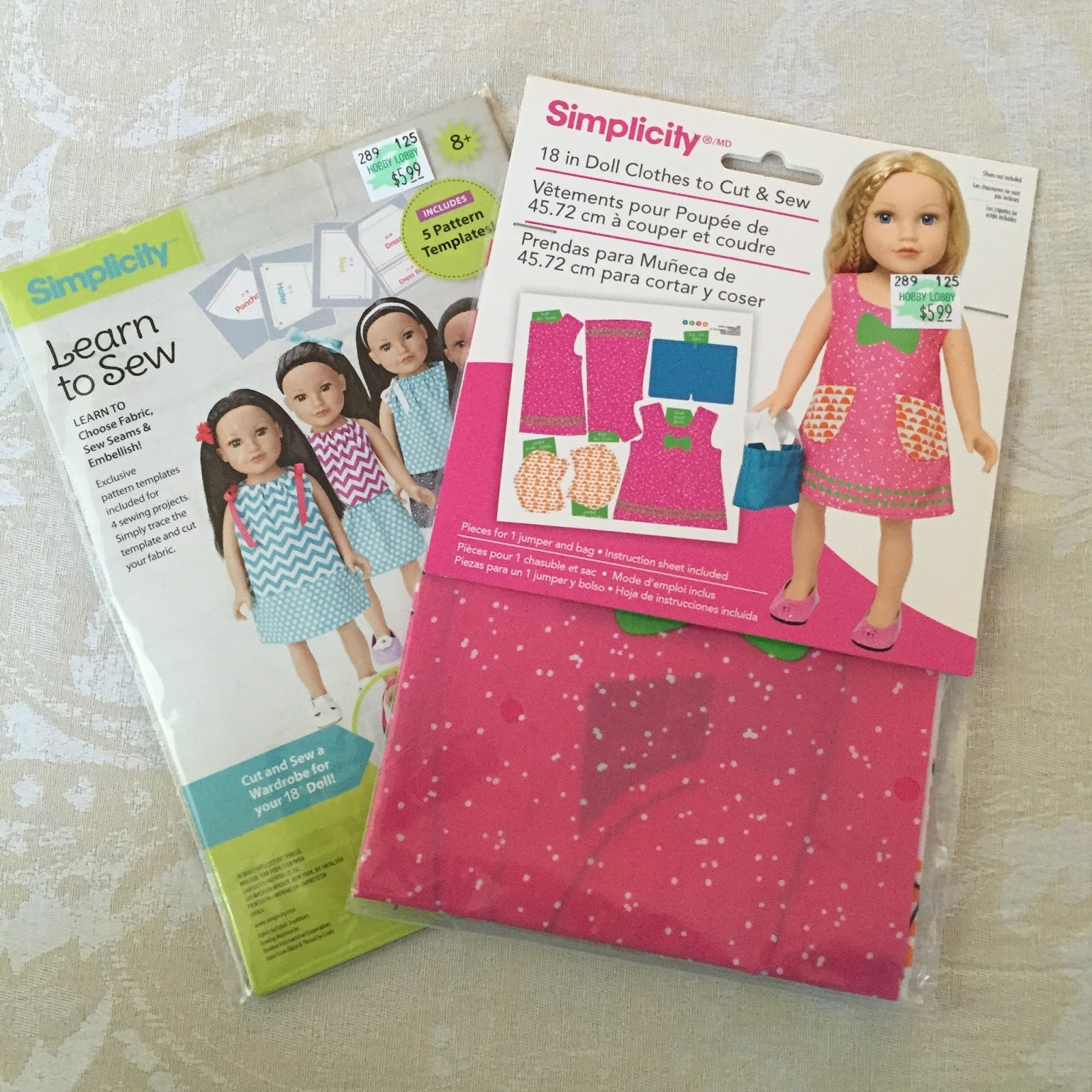 sew spoiled sew american doll simplicity
