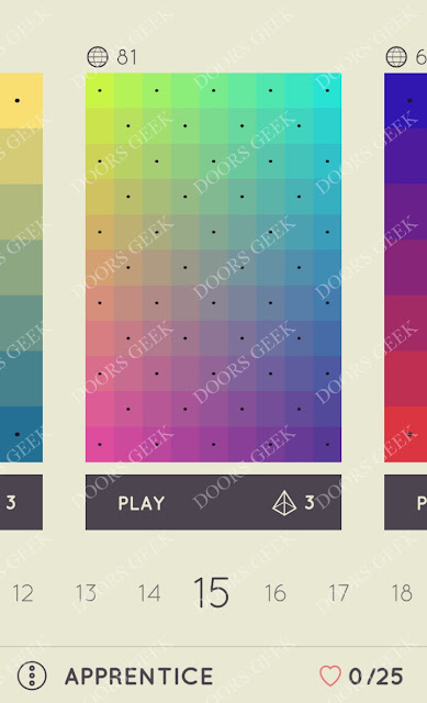 I Love Hue Apprentice Level 15 Solution, Cheats, Walkthrough