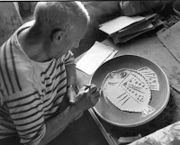 "Inspirational Pablo Picasso Quotes: ""I begin with an idea and then it becomes something else."" - Pablo Picasso"