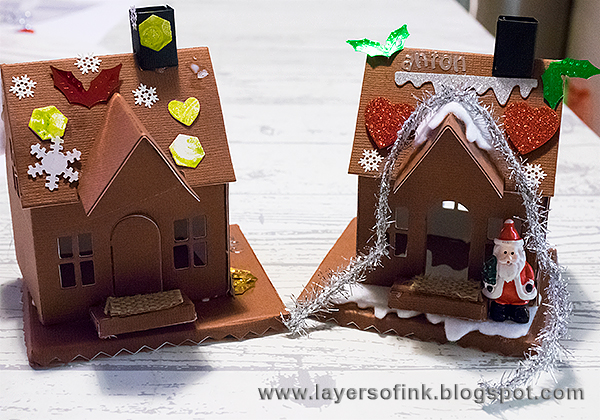 Layers of ink - Make your own paper Gingerbread House by Anna-Karin