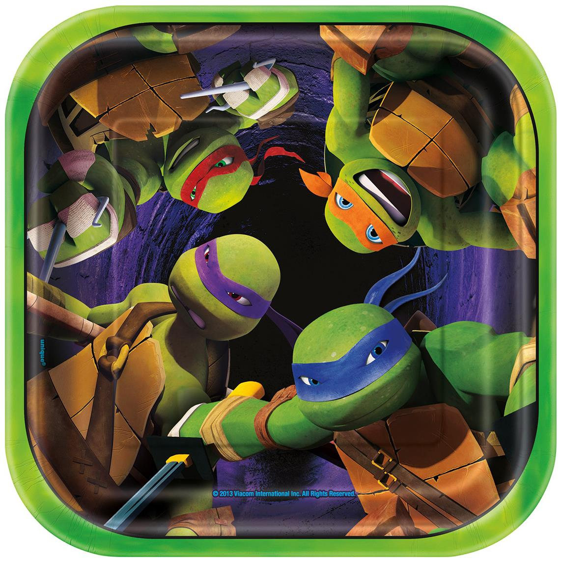 Includes (8) square dinner paper plates measure 9  x 9 . This is an officially licensed Nickelodeon product. Shipping This product ships Worldwide.  sc 1 st  Halloweenu0027s Best Costumes And Ideas & Halloweenu0027s Best Costumes And Ideas: Teenage Mutant Ninja Turtles ...