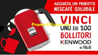 Logo Concorso ''Nescafè 2018'' : gioca e vinci 100 bollitori De Longhi Kenwood