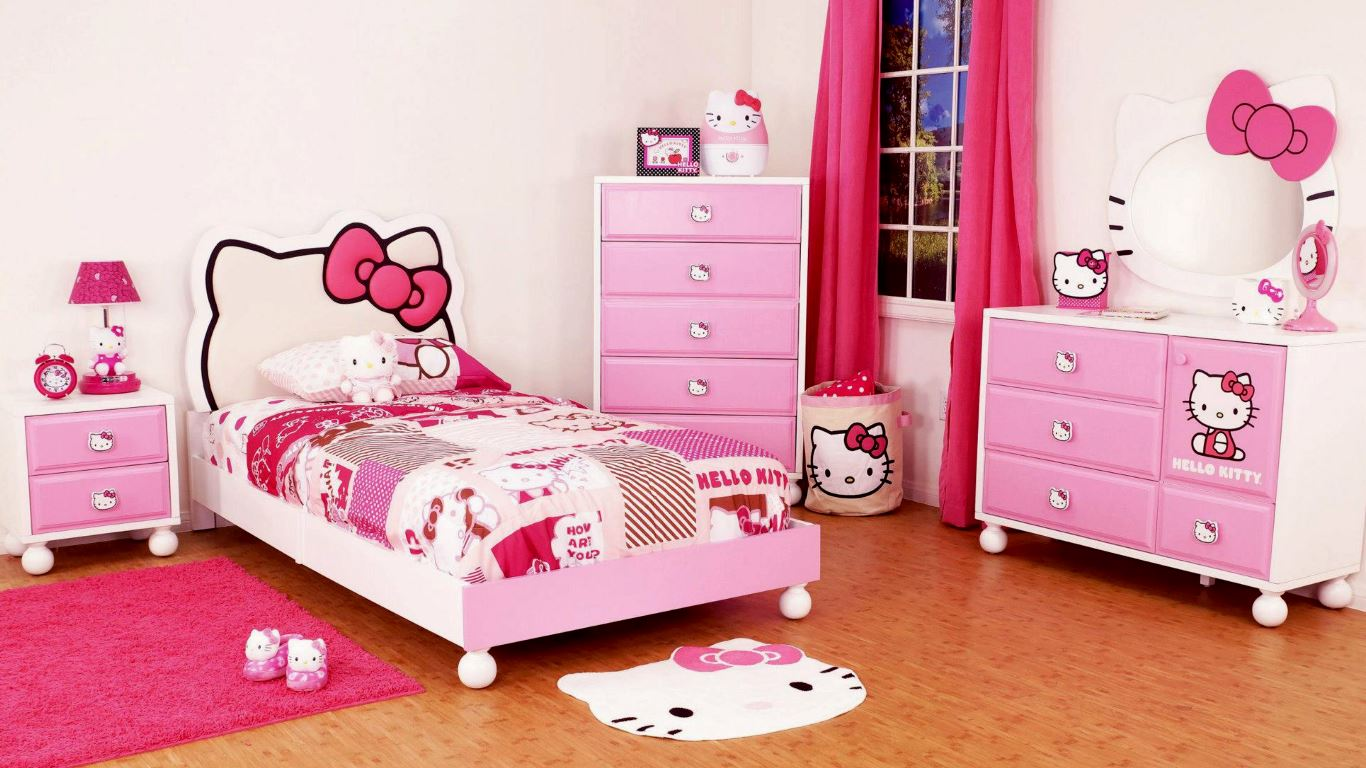 Bedroom paint color ideas for little girl with Pink Domination