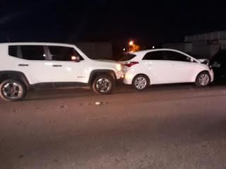 Engavetamento de cinco carros na BR-230 deixa duas pessoas feridas