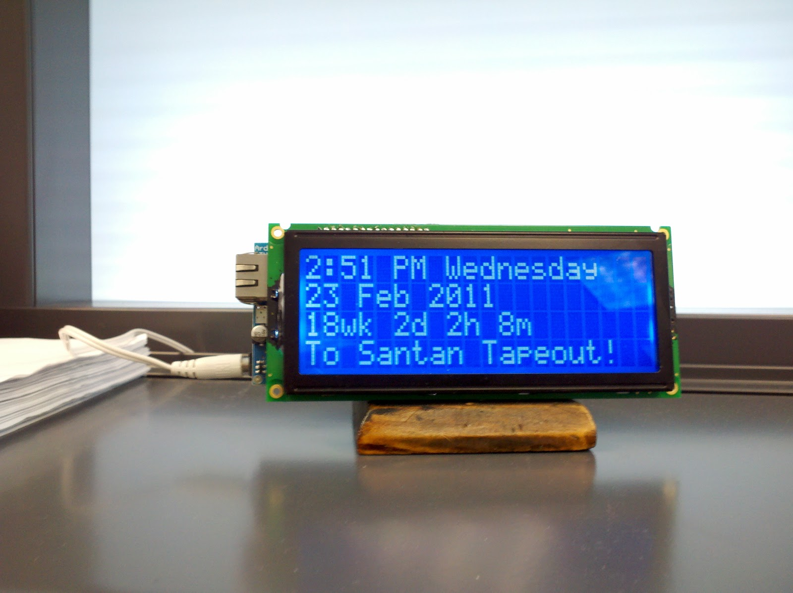 Siliconfish: Arduino LCD Countdown Clock