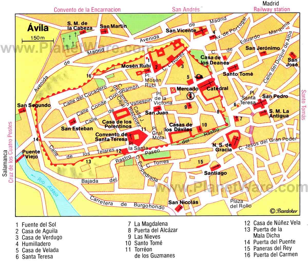 Mapa Turistico De Avila.Kampus Latinoamericanus Avila Ciudad Espanola Patrimonio