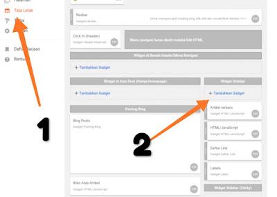 Cara menambah widget artikel terbaru