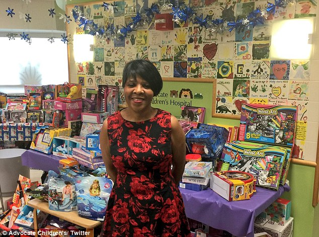 Jessie Tendayi, who works in the cafeteria at Advocate Trinity Hospital, saved money throughout the year to buy 1000s of toys for sick children for Christmas