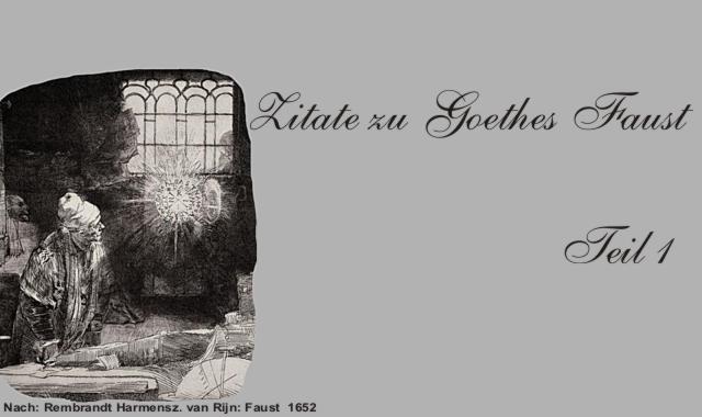 Gedichte Und Zitate Für Alle Zitate Aus Goethes Faust