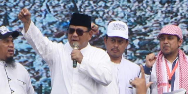 Prabowo Berduka Peserta Aksi Reuni 212 Ada yang Meninggal Dunia