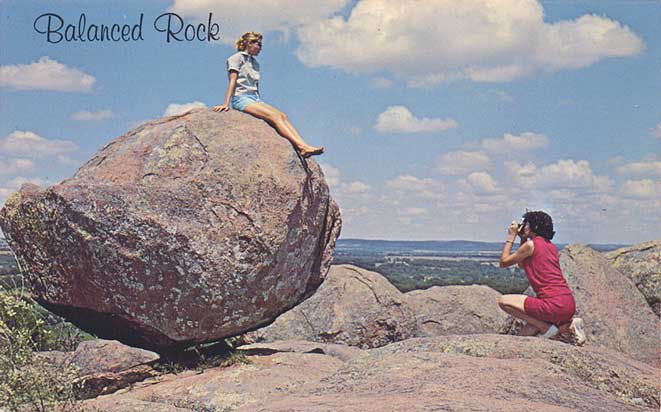 postcard gems balanced rock