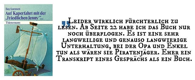 """Enttäuschung November 2017: """"Auf Kaperfahrt mit der 'Friedlichen Jenny'"""" von Boy Lornsen"""