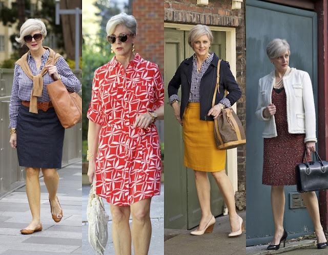 Looks modernos e comportados para mulheres maduras