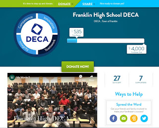 Franklin High School DECA - sends 45 students to the State Competition in March