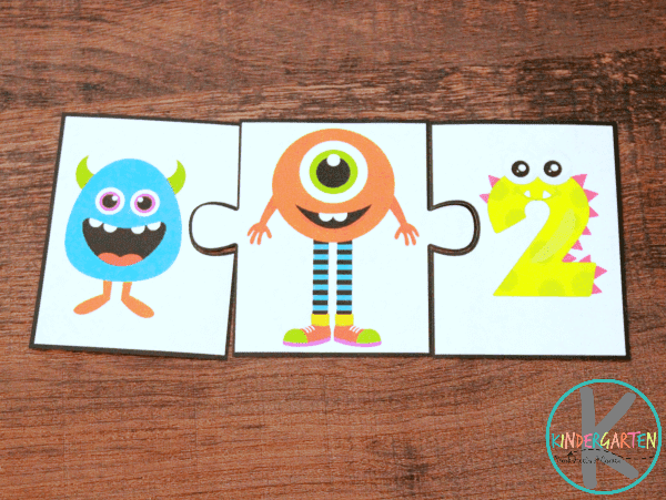 Sum to 10 Addition Puzzles for Kindergartners