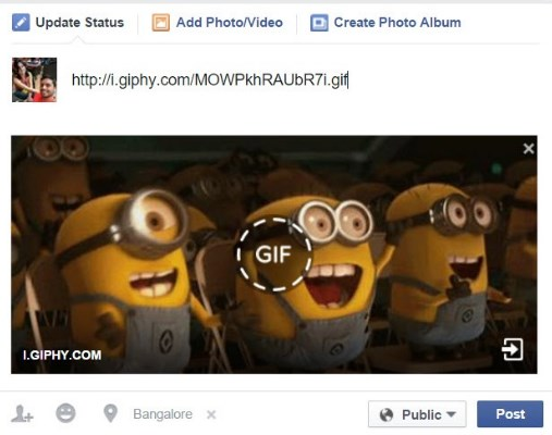 how to share a gif on facebook chat
