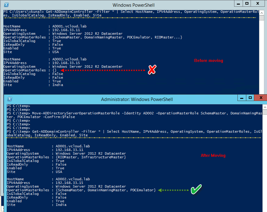 vGeek: Powershell - Domain Controller inventory and Transfering