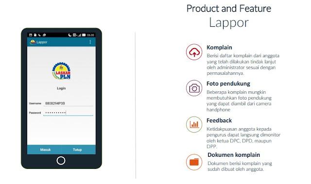 Aplikasi Android SP PT PLN LAPPOR