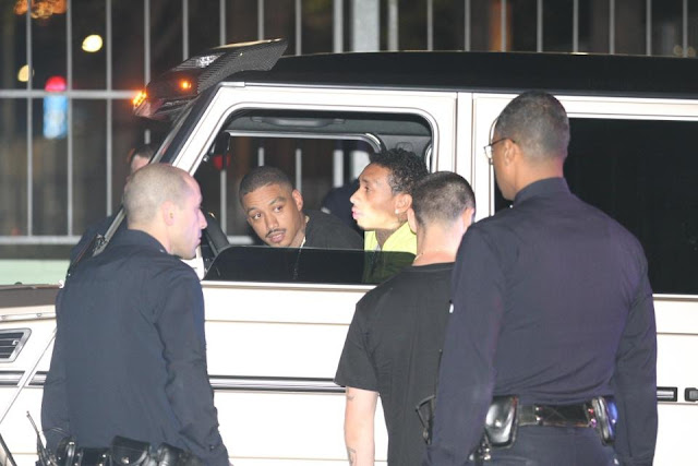 tyga with the police