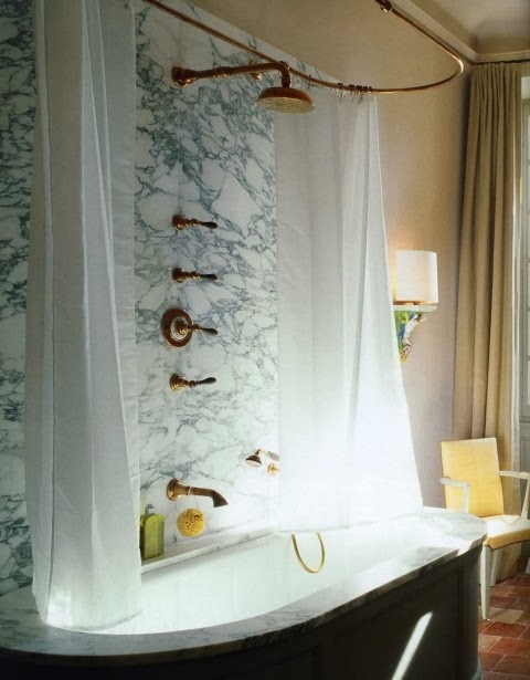 marble and brass bathroom