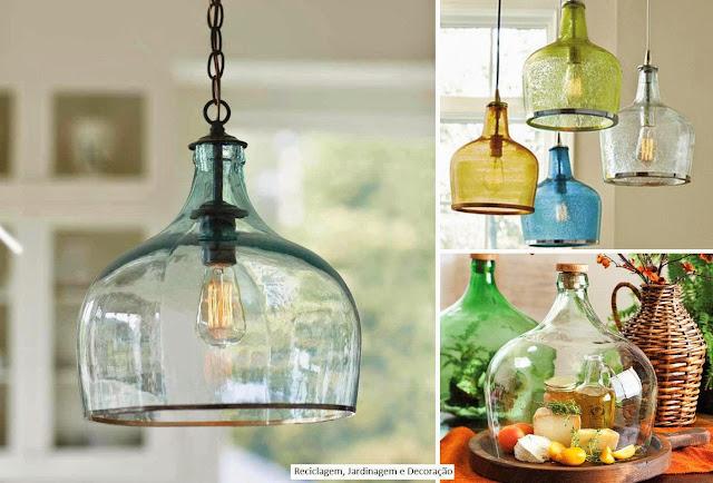 Diy Luminária de vidro